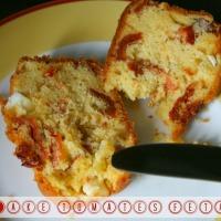Cake tomates feta lardons