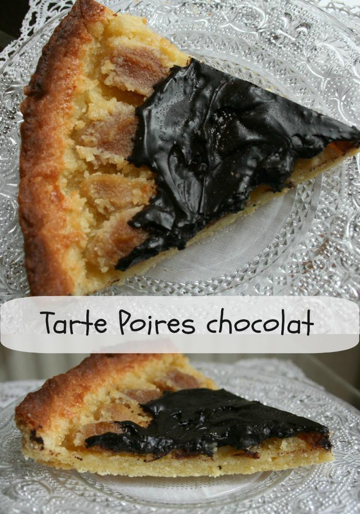 Tarte aux poires cr me d amandes et chocolat amer happy cooking - Peut on congeler des poires ...