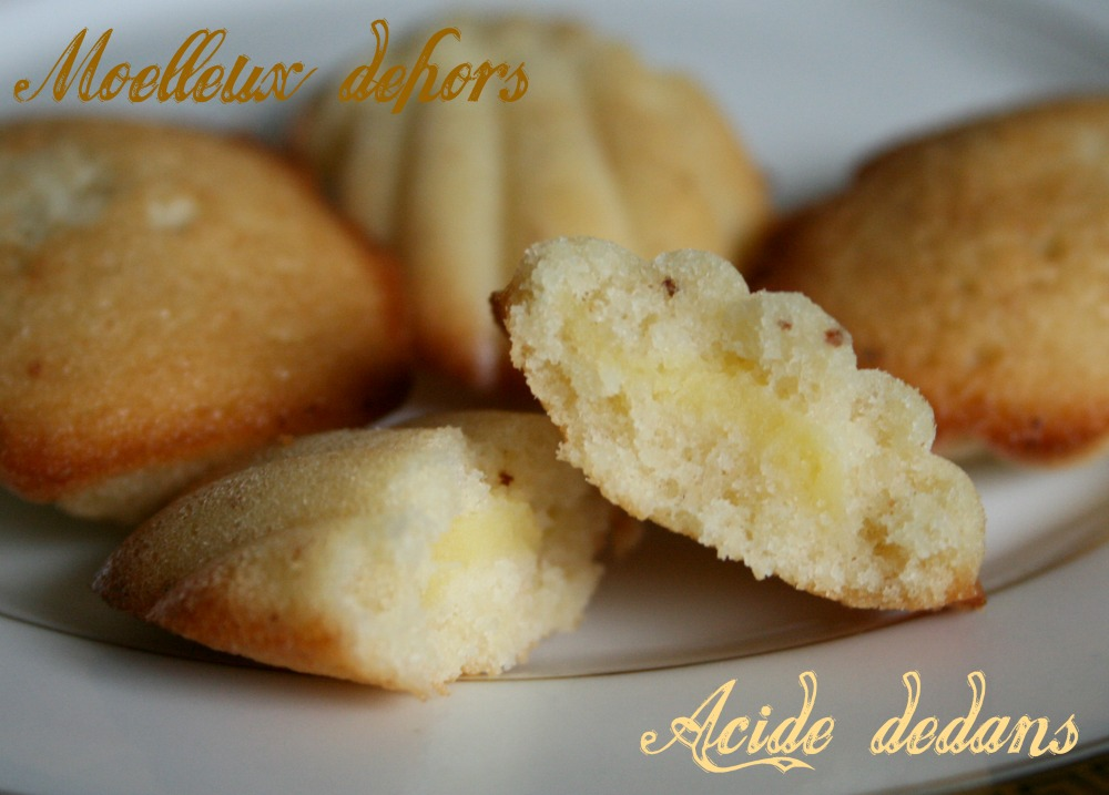 madeleine lemon curd