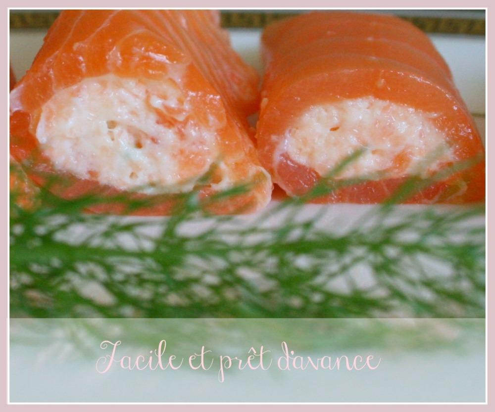 Roulé de saumon fumé