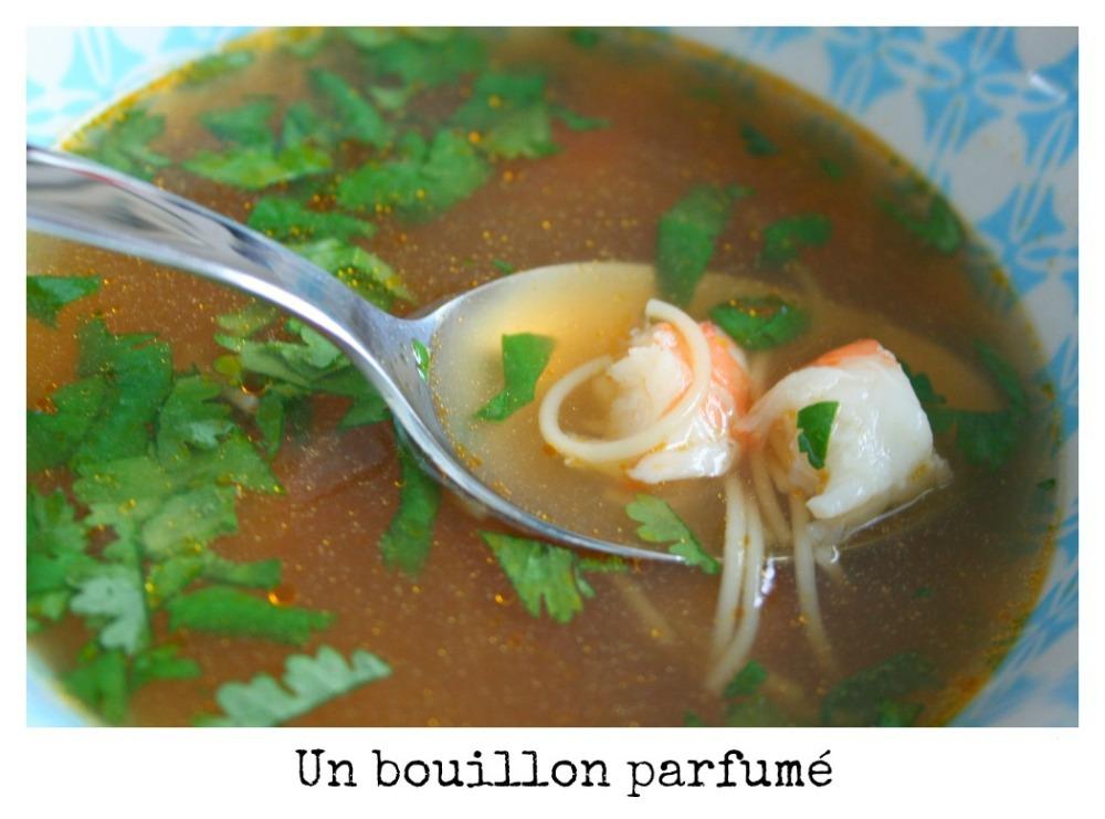 bouillon thaï crevettes
