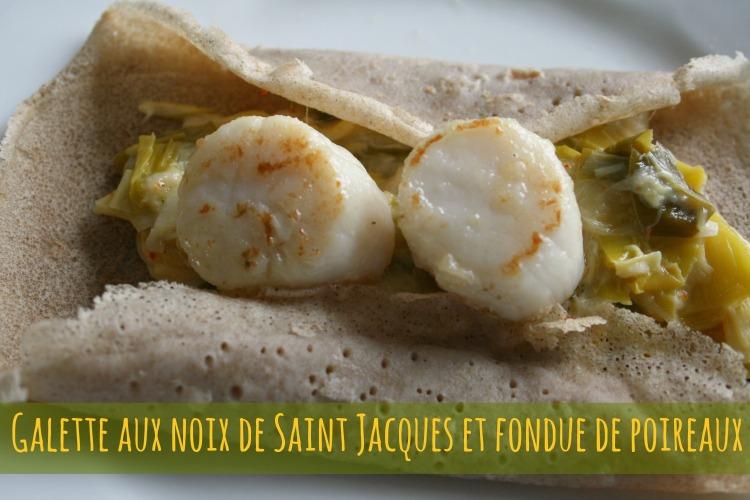 Galette aux St jacques poireaux