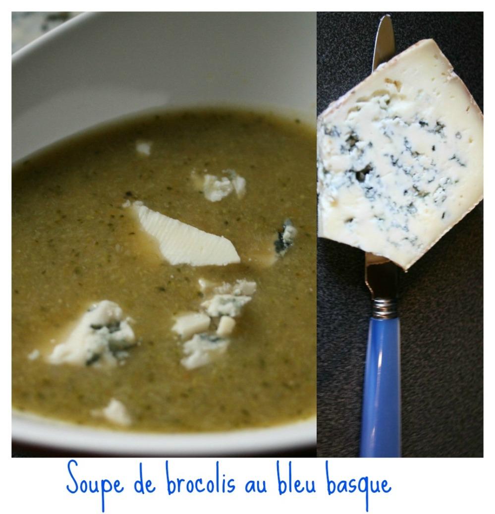 Soupe brocoli bleu