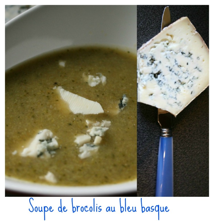 Soupe brocoli bleu
