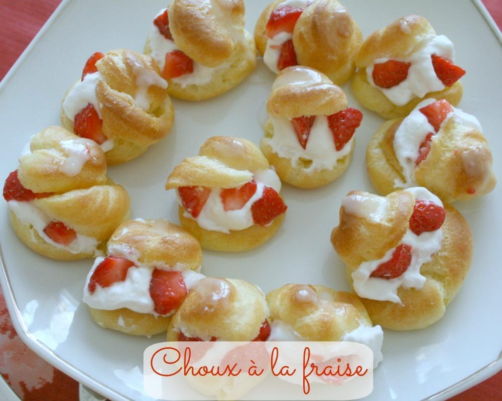 Choux à la fraise