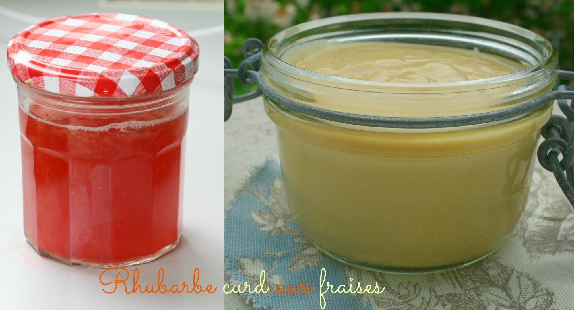 Rhubarbe curd aux fraises happy cooking - Quand ramasser la rhubarbe ...