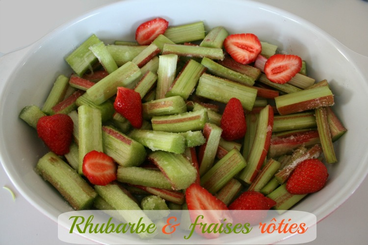 Rhubarbe rôtie