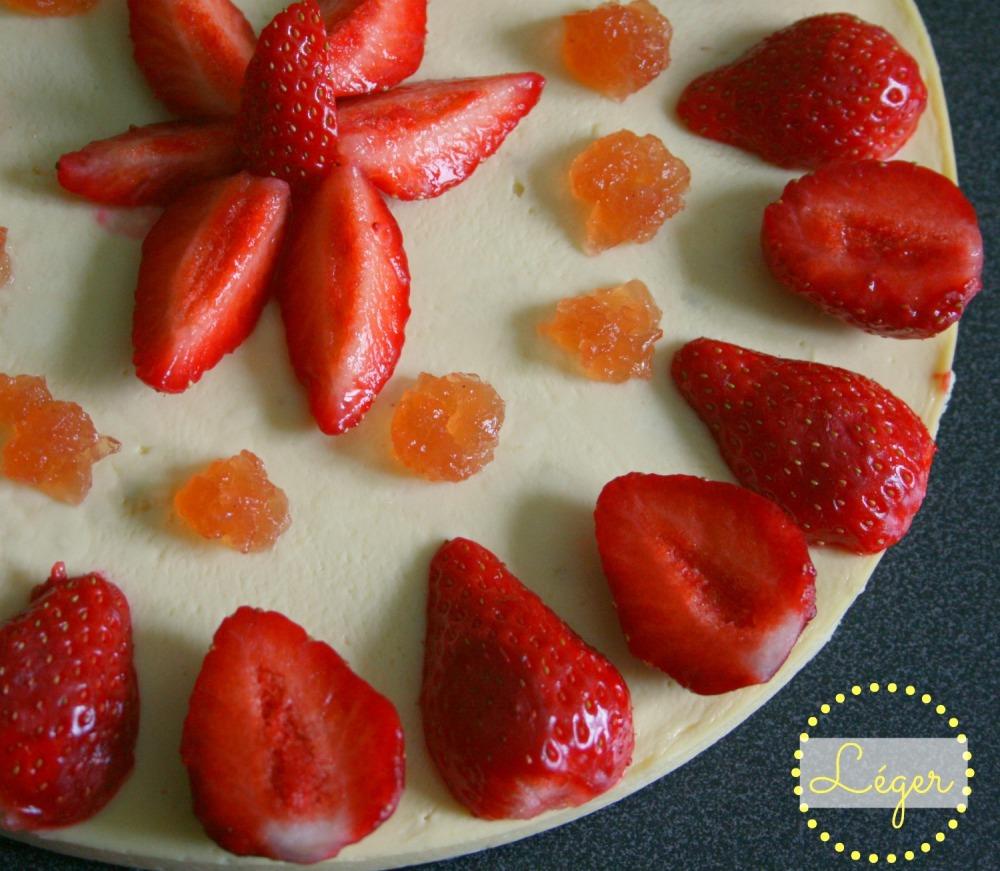 Cheese cake fraises