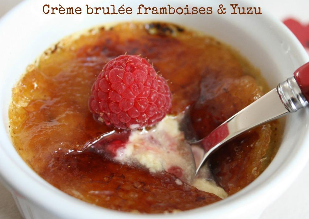 Crème brulée framboises