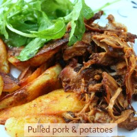 Pulled pork au four et ses potatoes aux herbes