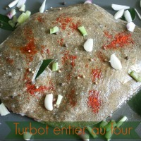 Turbot entier au four