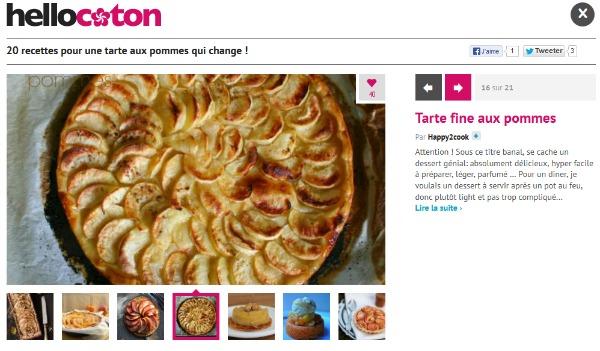 20 recettes pour une tarte aux pommes qui change ! • Hellocoton