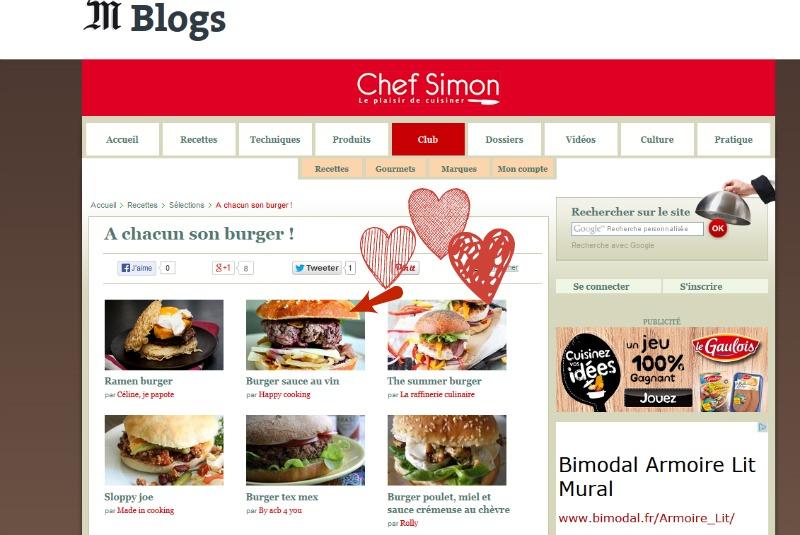 Burger sauce au vin- Chef Simon