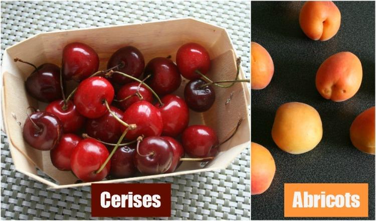 cerises abricots