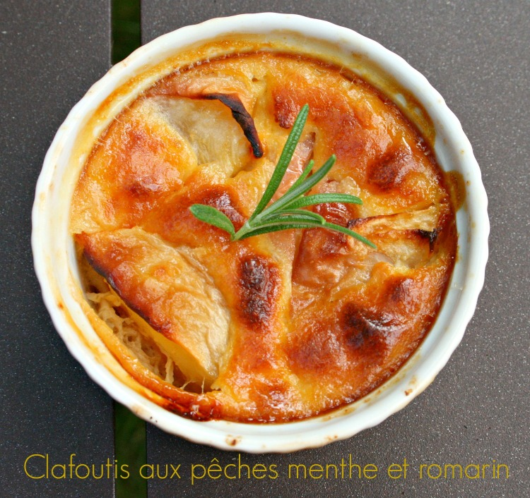 Clafoutis pêches
