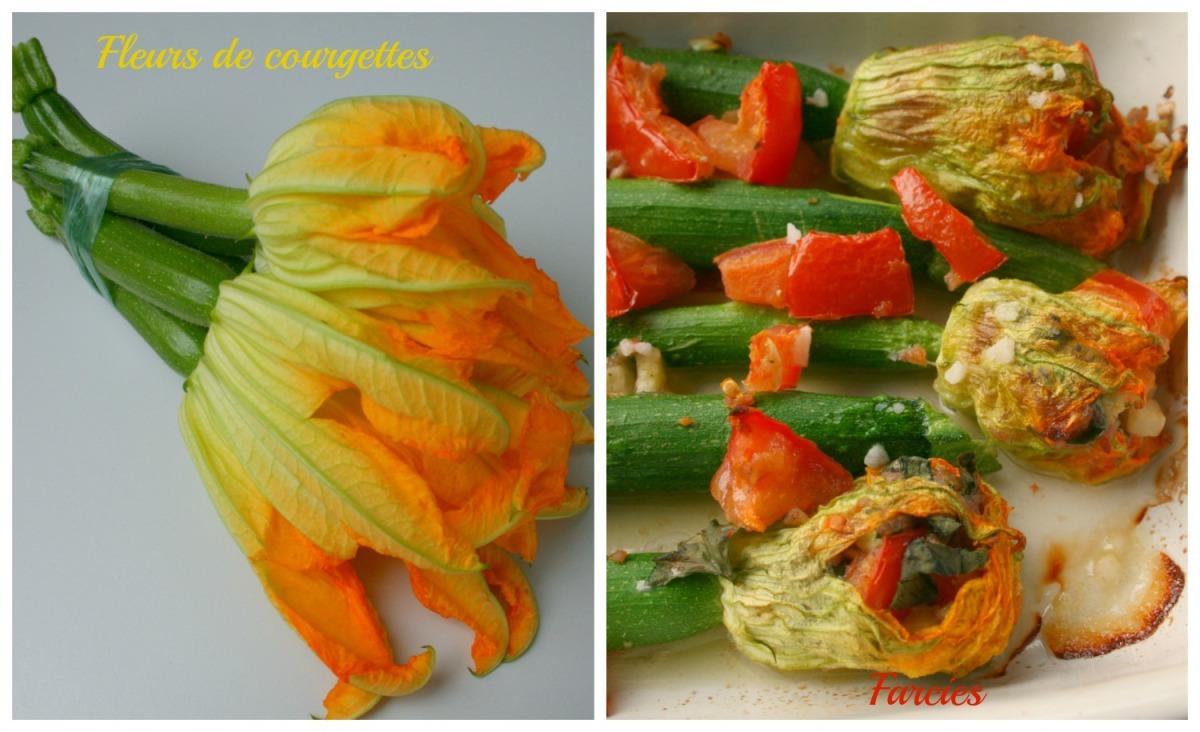 Fleurs de courgettes farcies happy cooking - Fleurs de courgettes au four ...