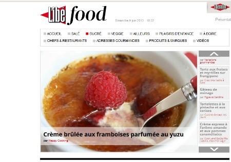 Libé food – Sucré crème brûlée