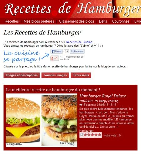 Recettes de Hamburger