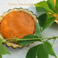 Tartelettes au coulis d'abricots et crème d'amandes