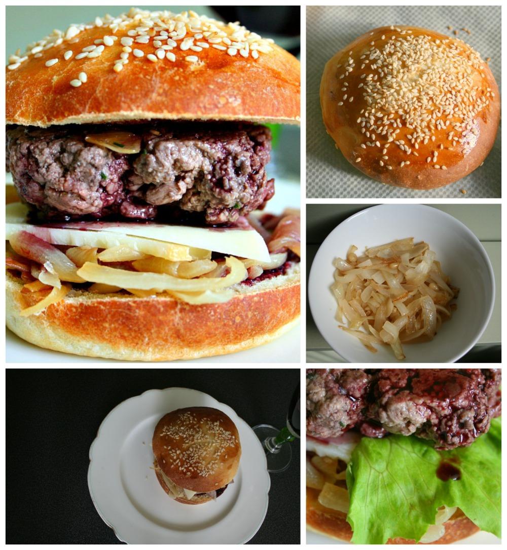 Hamburger sauce au vin