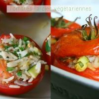 Tomates farcies au riz et aux légumes
