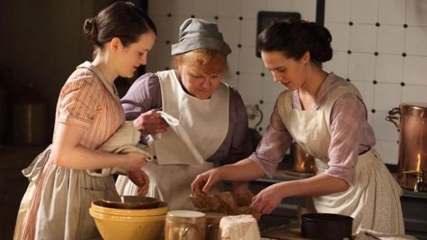 dans la cuisine de Downton