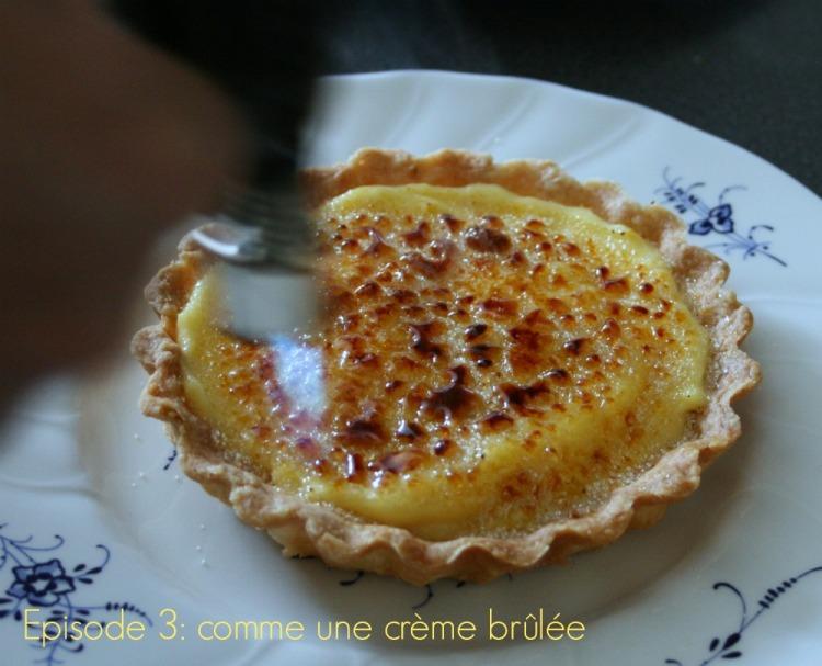 Tarte crème brûlée