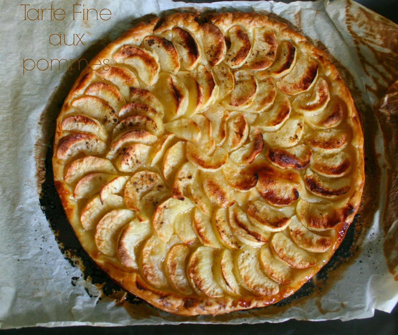 Tarte fine aux pommes happy cooking - Tarte aux pommes fine ...