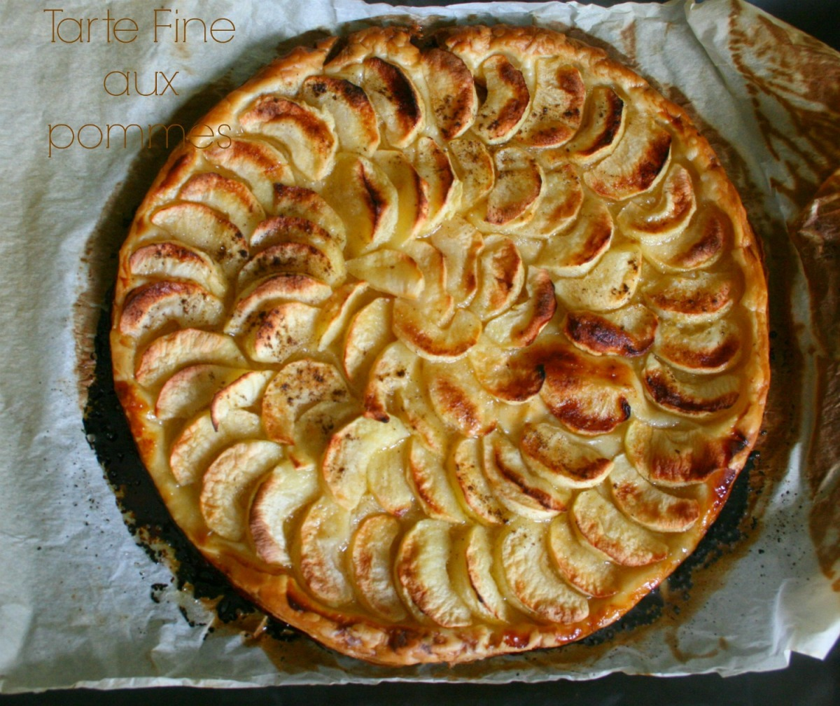 tarte fine aux pommes happy cooking. Black Bedroom Furniture Sets. Home Design Ideas