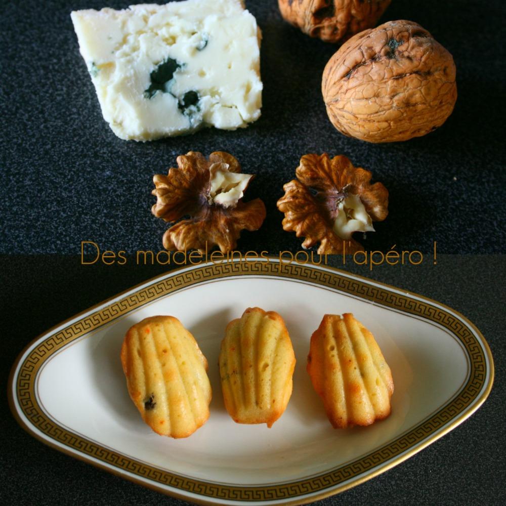 madeleines roquefort noix