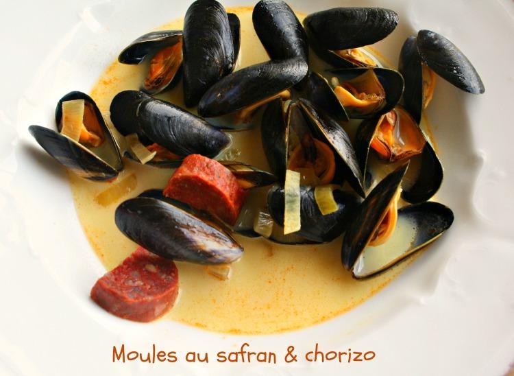 Moules au safran et chorizo