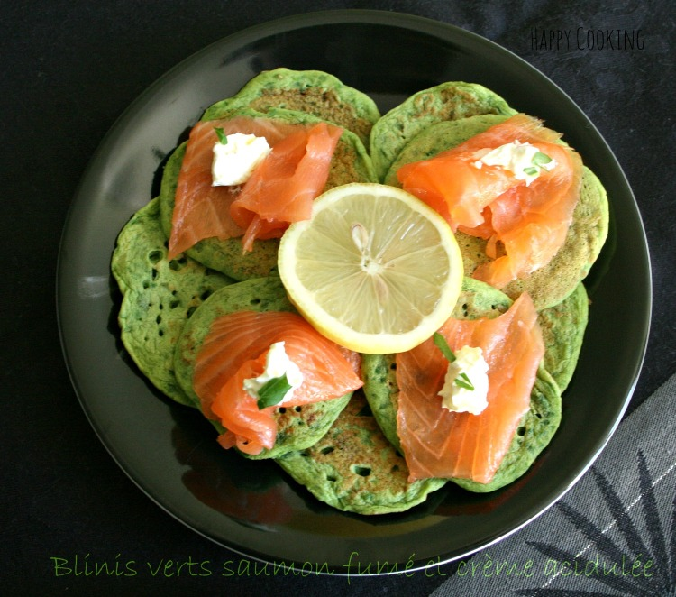 Blinis saumon fumé