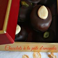 Chocolats à la pâte d'amande