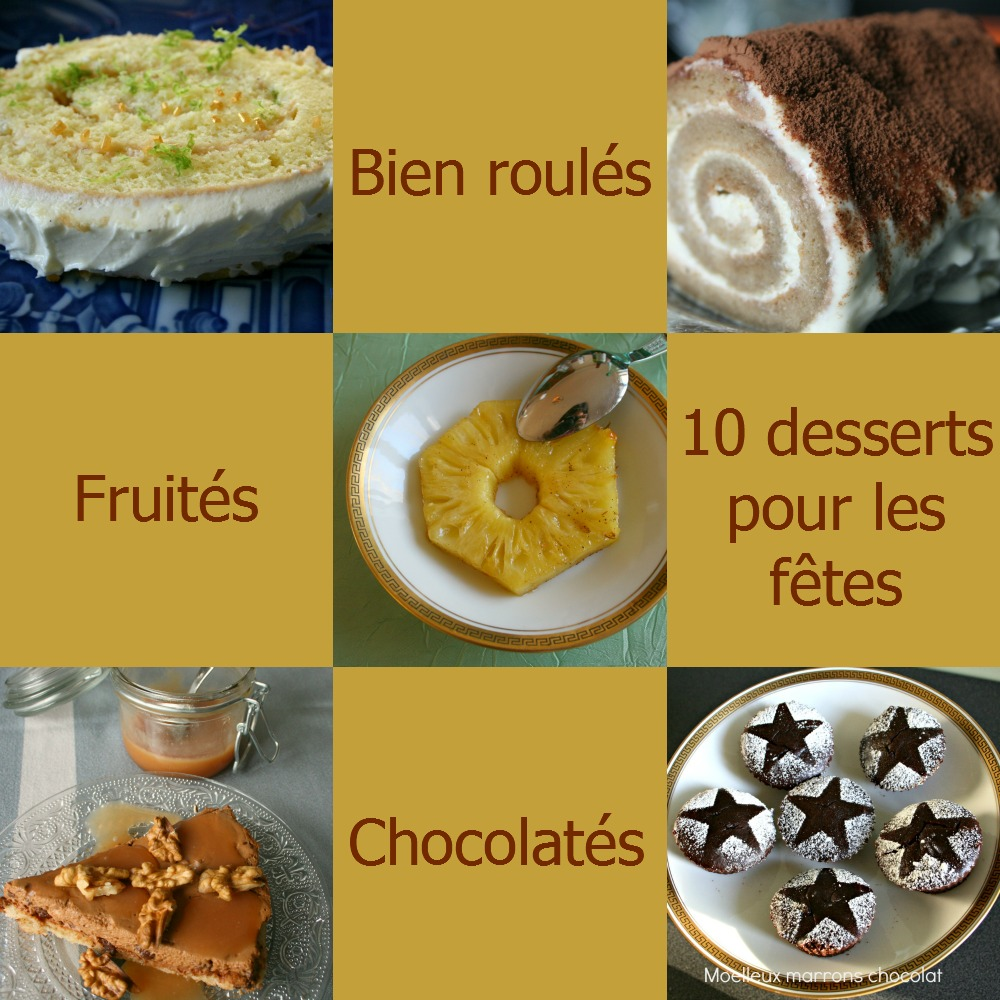 Desserts de fêtes -Noël