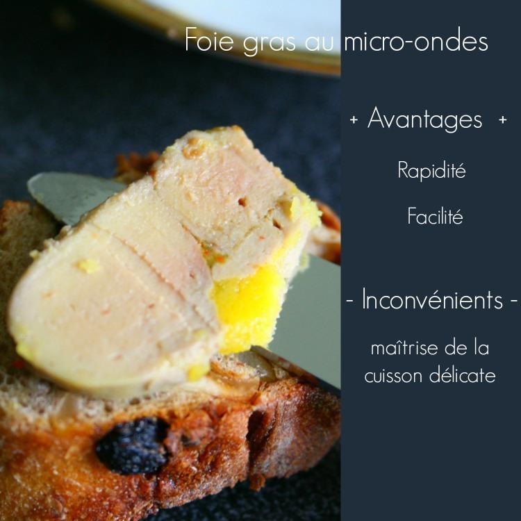 Foie gras maison au micro ondes avantages inconvénients