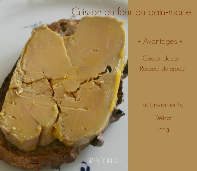 Foie gras maison cuisson bain-marie