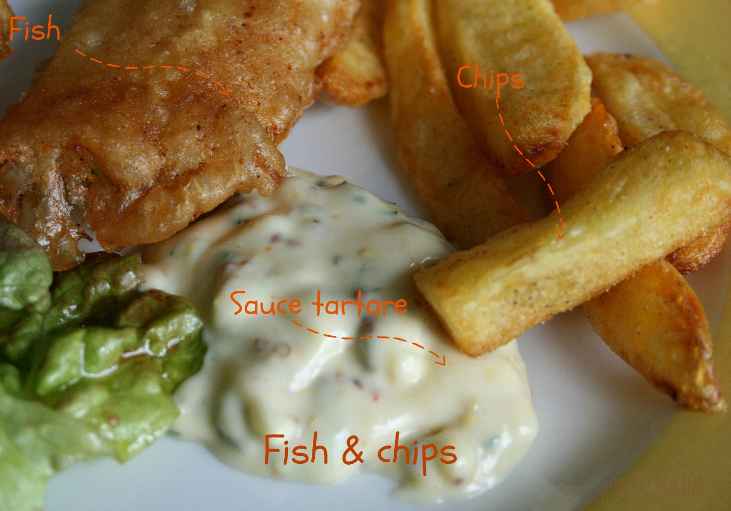 Fish and chips sauce tartare | Happy Cooking