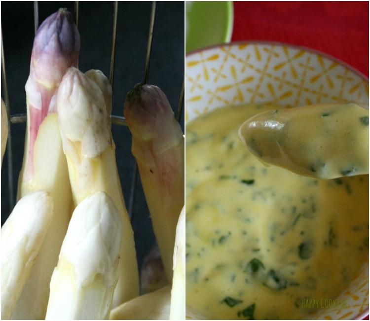 Asperges cuisson vapeur - sauce mousseline