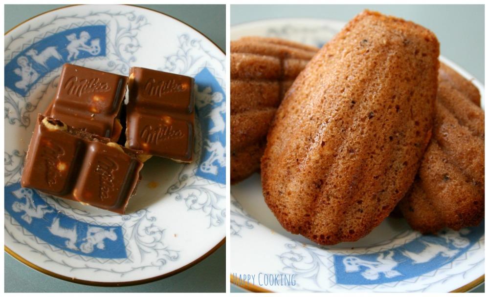 Madeleines chocolat noisettes