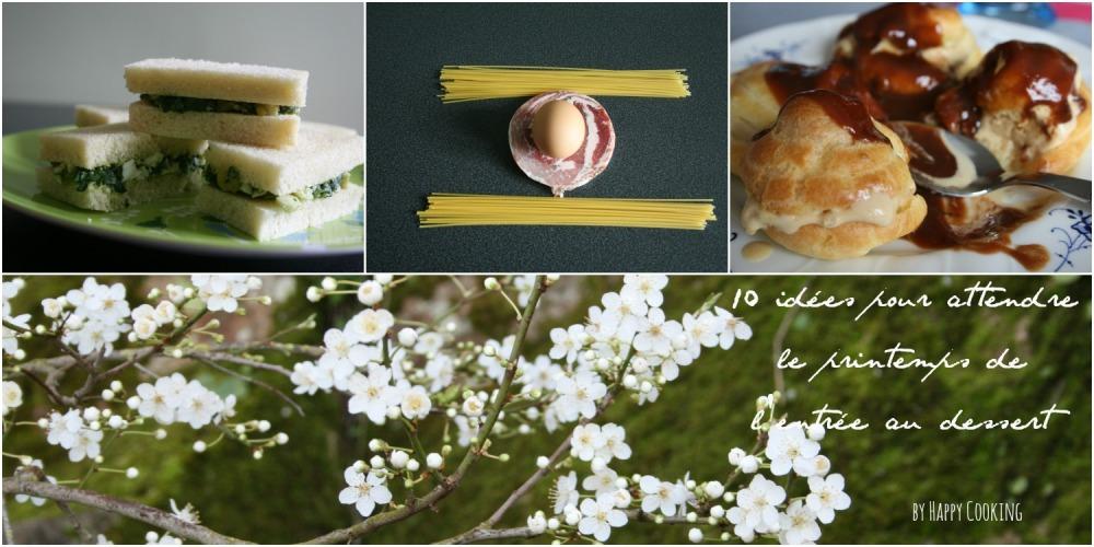 des idées de recettes de printemps