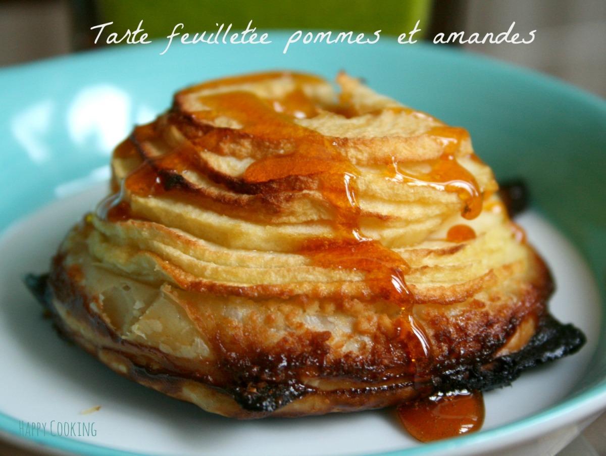 Tarte aux pommes cr me d amandes et caramel d apr s jacques g nin happy cooking - Dessin de tarte aux pommes ...