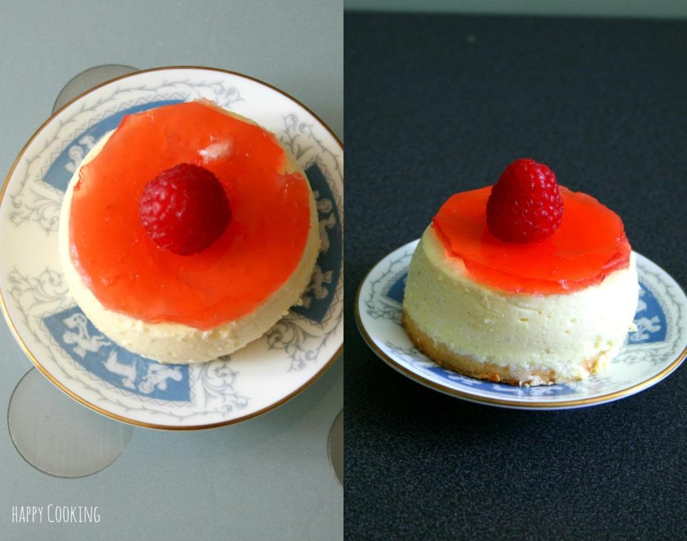 Cheesecake et rhubarbe