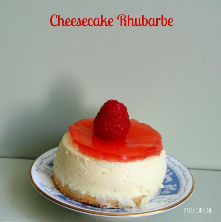 Cheesecake rhubarbe