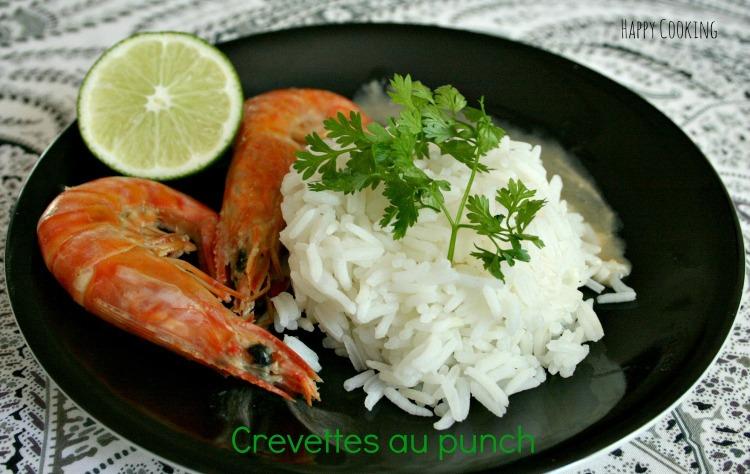 Crevettes au punch