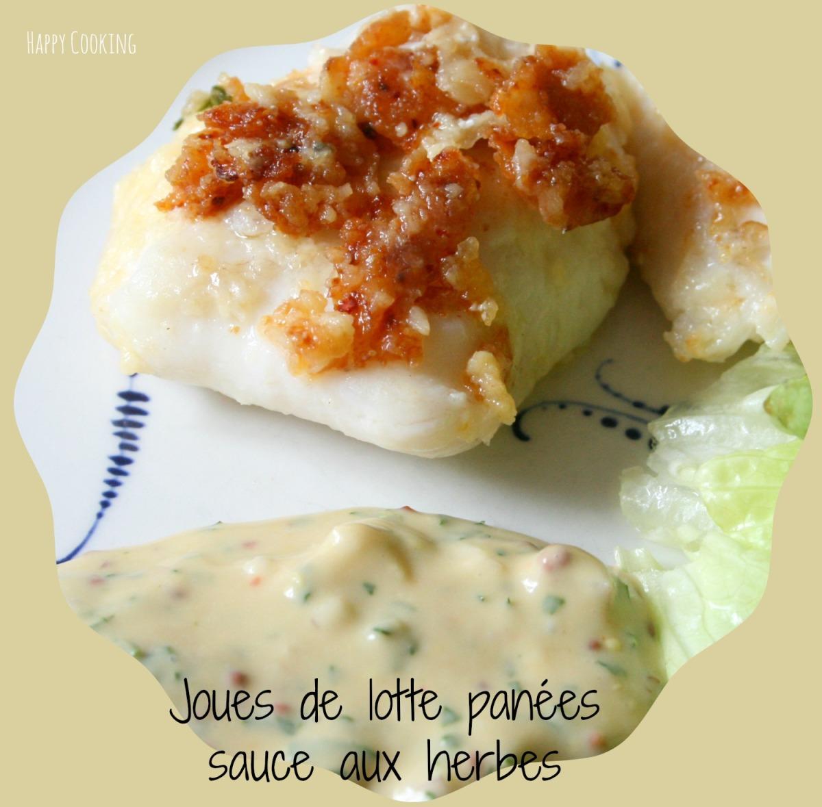 Joues de lotte pan es au parmesan et sauce aux herbes happy cooking - Cuisiner des joues de lotte ...