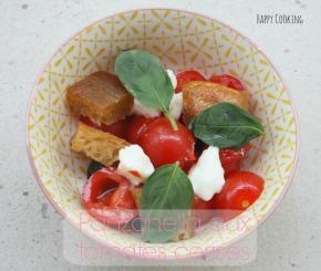 Panzanella aux tomatescerises