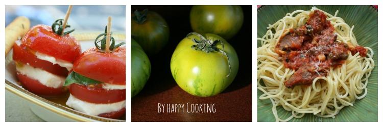 recettes avec la tomates