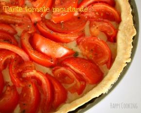 Tarte tomates moutarde