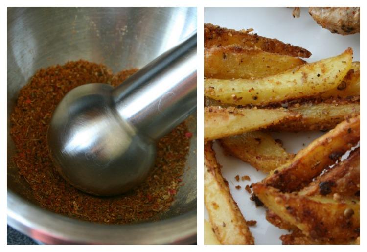 Frites garam masala