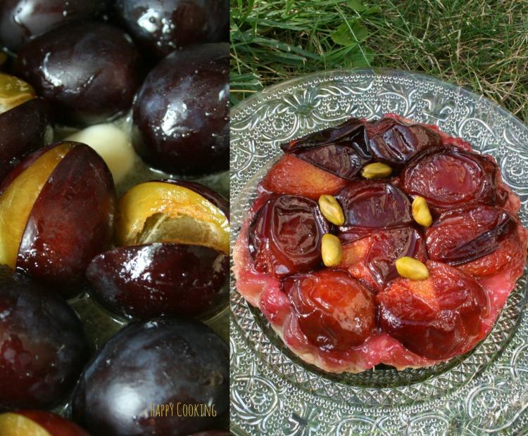 Tarte tatin aux prunes
